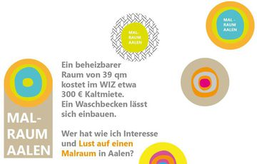 Malraum im WIZ für 330 Euro Kaltmiete